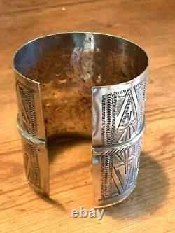 105g! Silver Berber Bracelet Sleeve Ancient Tunisian Kabyle Silver Vintage