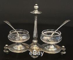 1880 19th Rare And Old Salerons By Cailar & Bayard Silverware And Baccarat