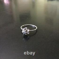 19th Aedo Ring Diamant, Argent / Antik Georgian Rose Cut Diamond Ring
