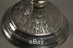 2 Candlesticks Old Persian Islamic Sterling Silver Solid Silver Candlesticks 398gr