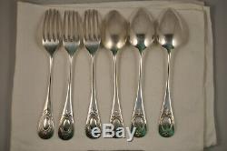 3 Cutlery Antique Silver 800 Antique Solid Silver Cutlery 430gr