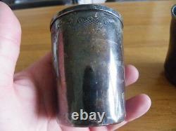 3 Old Timpani In Sterling Silver Minerve 206 Grams