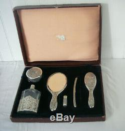 500-600gr Silver Cambodia Former Indochina Box Makeup Vanity