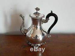 Ancienne Coffee Jug In Solid Silver Decor Rocaille Punch Minerve