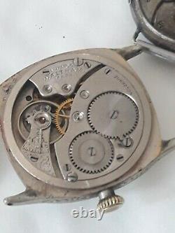 Ancienne Omega Military Watch Ww1 Solid Silver Waltham Military Watch