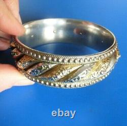 Ancient Ancient Solid Silver And Gold Jewel Old Silver Bracelet And Massive Gold