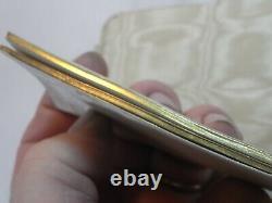 Ancient Ball Book Message Vermeil Gold Silver Massif XIX Calendar 1849