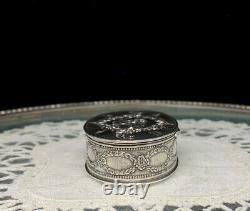 Ancient Box Silver Art Nouveau Henin And Cie Colombes XIX Pill Box