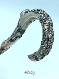 Ancient Chinese Umbrella Apple In Solid Silver