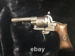 Ancient Lefaucheux Pistol Signed