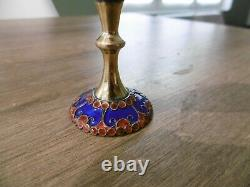 Ancient Russian Enamelled Russian Solid Silver Vodka Glass Russia