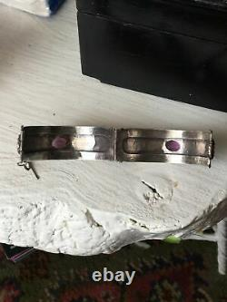 Ancient Silver Berber Bracelet Ancient Mauresque Kabyle 19th In Ethnic Silver
