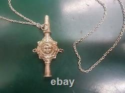 Ancient Silver Sifflet Angelot With Chaine Ref43000