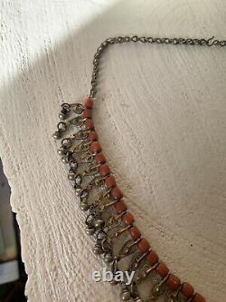 Ancient Yemen Coral Necklace Silver Antique Yemeni Red Coral Silver Necklace Necklace Necklace Necklace