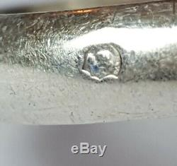 Antique Cartier Type Trinity Ring Sterling Silver Size 58 Silver Ring 8.5