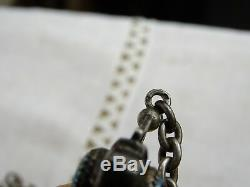 Antique Gusset Watch Chain Sterling Silver Pocket Watch Chain Silver