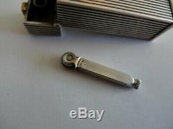 Antique Lighter & Cigarette Case Solid Silver Art Deco Silver Petrol Lighter Box