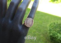 Antique Louis Philippe Silver Coin Ring And Solid 18k 18k Gold Size 48