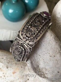 Antique Silver Bracelet Old Moorish Berber Kabyle 19th Silver Ethnic