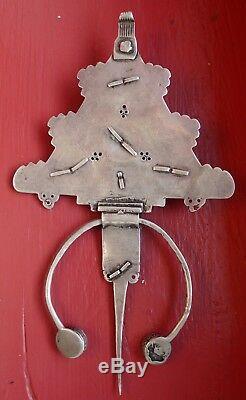 Antique Silver Fibula Email Morocco Antique Berber Silver Moroccan Enamel Fibula