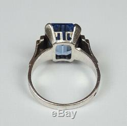 Antique Sterling Silver 925 Amber Ring Size 56 Antique Sterling Silver Ring