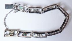 Art Deco Antique Silver Silver Silver Bracelet Circa 1925