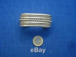 B24 Wide Cuff Bangle Sterling Silver Jewelry Lot 925 Old Tahe Navajo