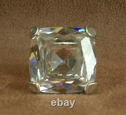 Beautiful Ancienne Bague In Massible Sertificate Of A Blank Pierre 29g