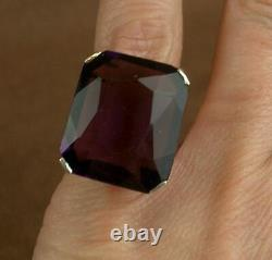 Beautiful Ancient Silver Ring Massive Sertia Of An Amethyst Enormous