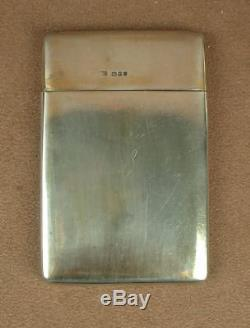 Beautiful Box Case Has Antique Card In Sterling Silver