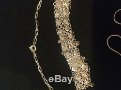 Beautiful Ornament Old -draperie And Sterling Silver Filigree Style Oriental