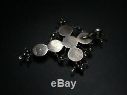 Belle Croix De Saint Lo Old Norman Regional Silver & Rhinestone Jewelry