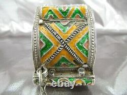 Berber Bracelet Silver Email Morocco, Old Bracelet Silver Morocco
