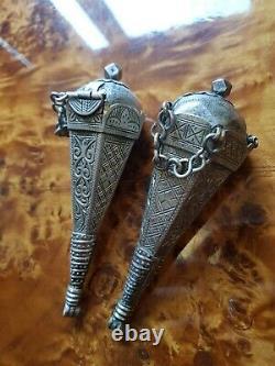 Berber Pendant Box Musk Adornment Morocco Silver Tiznit Ancient Maghreb XIX