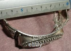 Big Old Berber Bracelet In Solid Silver Crab Stamp North Africa