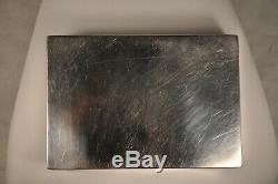 Boite A Cigarette Old Sterling Silver Antique Solid Silver Cigarette Case Box