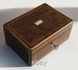 Box Box Box Required Old XIX Argent French Sewing Box And Case