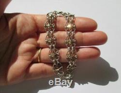 Bracelet Antique Filigranes Silver Charm Sterling Silver 11.2g 19cm