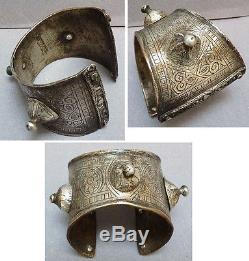 Bracelet Old Silver Massive Ethnic Maghreb Anti-atlas Morocco Silver Bracelet