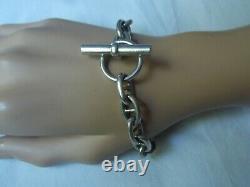 Bracelet Silver Massive Old Style Hermes Punch Neck Brace Mixed 41 Grams