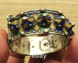 Bracelet Silver Old Email Jewelry Morocco Antique Moroccan Berber Silver Bangle
