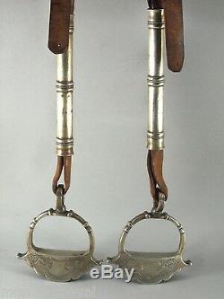 Calfs For Child, Old, Mexico, Silver, Stirrups, Steigbügel, Horse