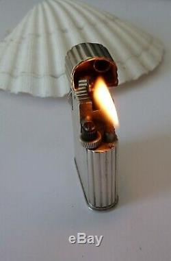 Cartier Lighter Old Petrol Sterling Silver Petrol Lighter Silver Art Deco