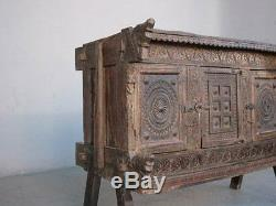 Carved Wood Chest Old Elements