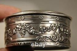 Case A Neck Old Silver Massive Antique Solid Silver Patch Box