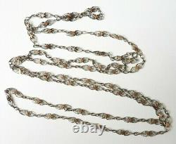 Chain Jumper Necklace Silver Solid Jewel Old 19th Century Silver Chain