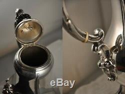 Coffee Pot Old XIX Sterling Silver Minerve 634 Gr