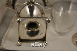 Confiturer Old Solid Silver Coq Empire Antique Solid Silver Jam Bowl 19c