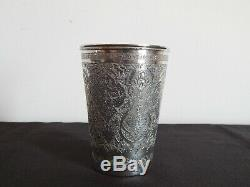 Cup Old Silver Chiseled In Iran Persian Hallmarked