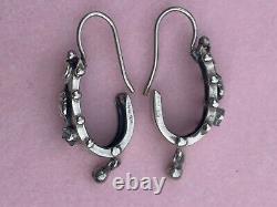 Earrings Ancient Dormous Silver 19th Antique Etruscan Earrings
